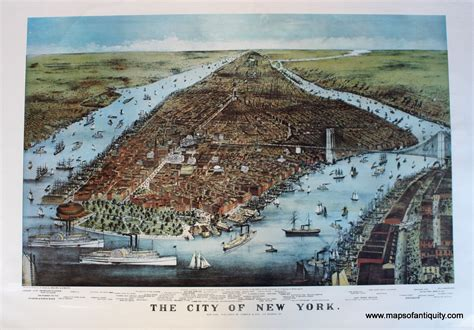 ny to cape cod the city of new york antique maps and charts original