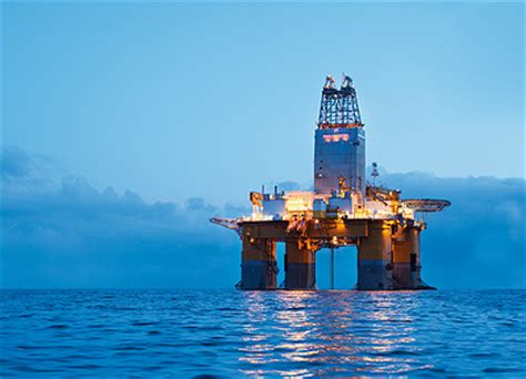odfjell deep sea offshore drilling rig in the atlantic