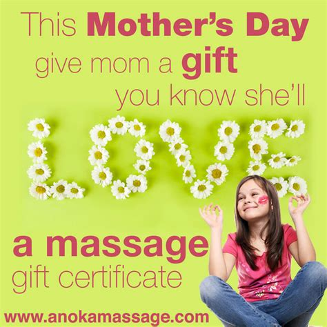 love to teach mothers day 2014 massage gift certificates 187 anoka massage and pain therapy