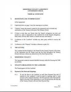 tenant landlord agreement template best photos of tenancy agreement form template free