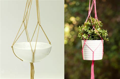How To Make A Plant Hanger With Rope - diy macrame plant holders a chic way to hang indoor plants