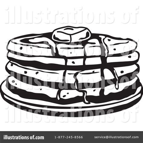 Pancake Clipart Black White pancakes clipart black and white clipground