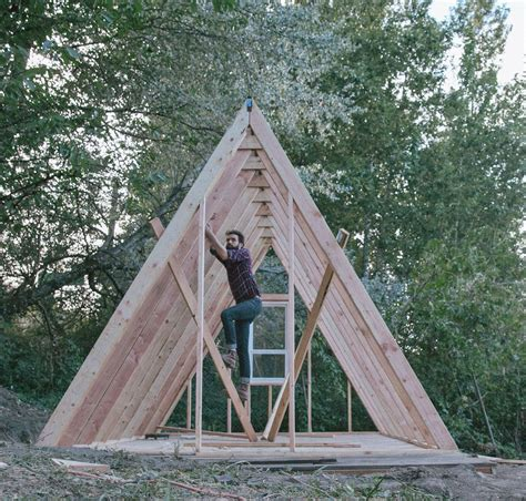 diy a frame cabin simple a frame cabin floor plans a uo journal how to build an a frame cabin designed
