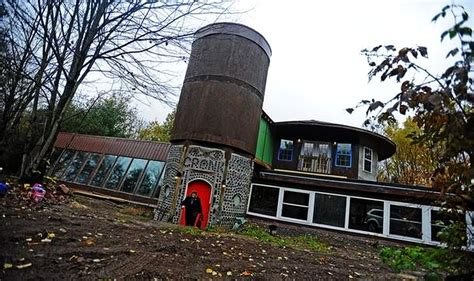 cronk tire house is a new way to recycle tires and glass