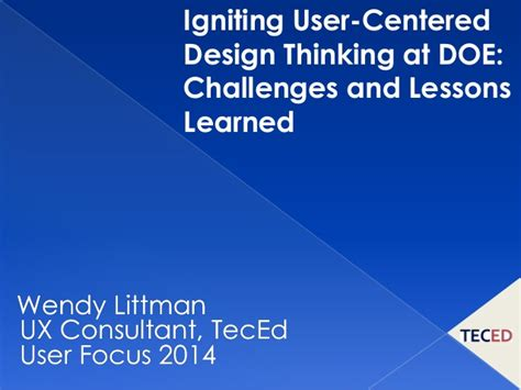 design thinking challenges igniting user centered design thinking at doe challenges