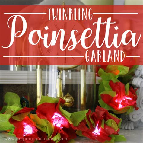 poinsettia string lights how to make poinsettia lights using twinkle lights