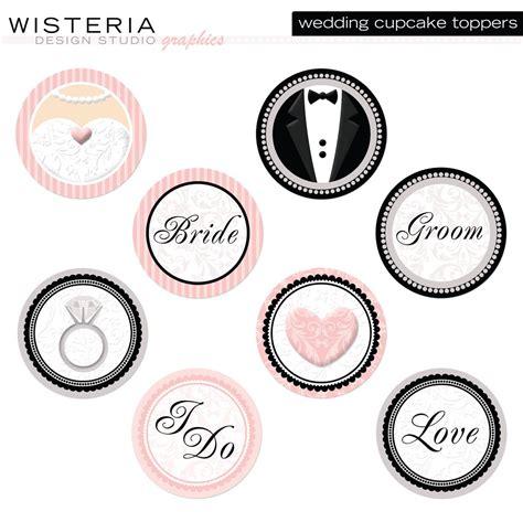 printable cake toppers printable cupcake toppers wedding wedding cupcake