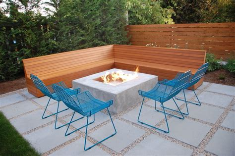 patio table with pit built in modern pit tables gray patio seating area with