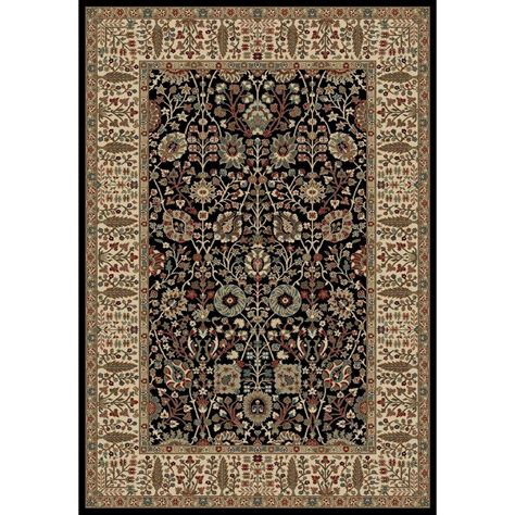 natco home fashions rugs natco stratford garden gate black 5 ft x 7 ft 7 in area rug 8267bk69 the home depot