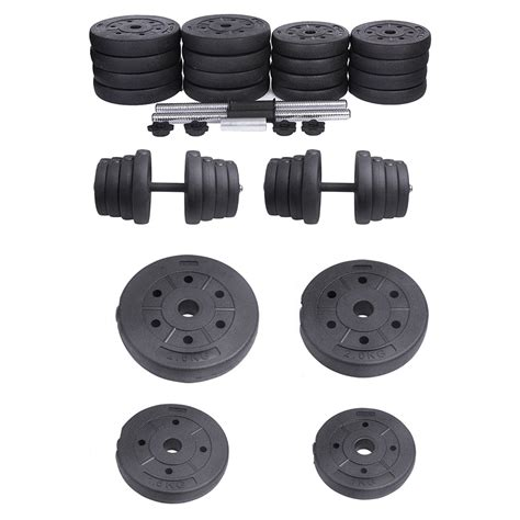 2x dumbbell free weights dumbells set gym bench barbell