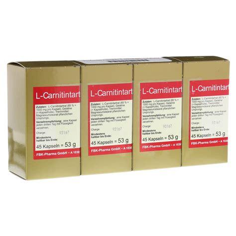 L Kaufen by L Carnitin Tartrat 1000 Kapseln 180 St 252 Ck Bestellen