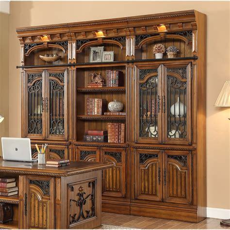 15 best collection of library bookcase wall unit