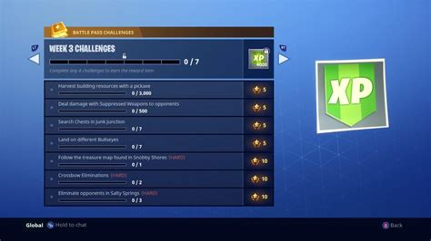 fortnite week 3 challenges fortnite season 3 weekly challenges guide week 6 weekly