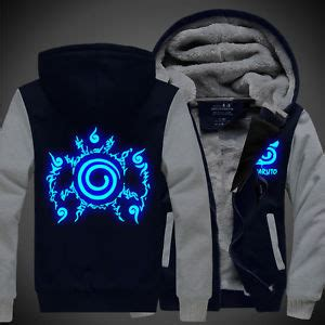 Jaket Hoodie Six Japan Black anime uzumaki clothing thickening hoodies glow