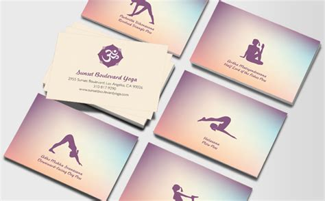 Visitenkarten Yoga by Moo Visitenkarten Yogalehrer Visitenkarten Moo