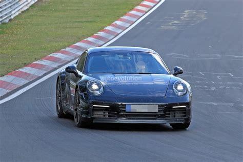 new porsche 2019 new 2019 porsche 911 makes nurburgring debut prototype