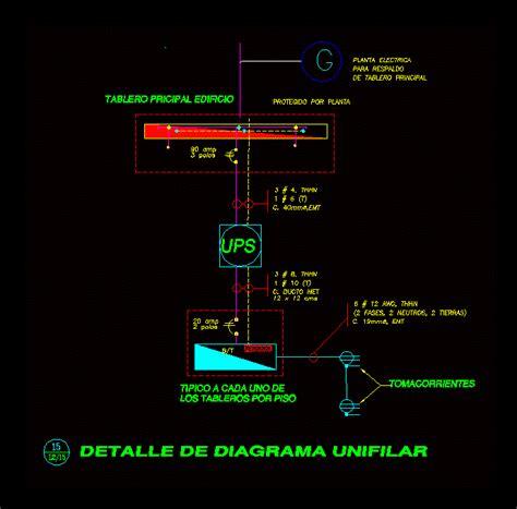 diagram ups backup dwg block  autocad designs cad