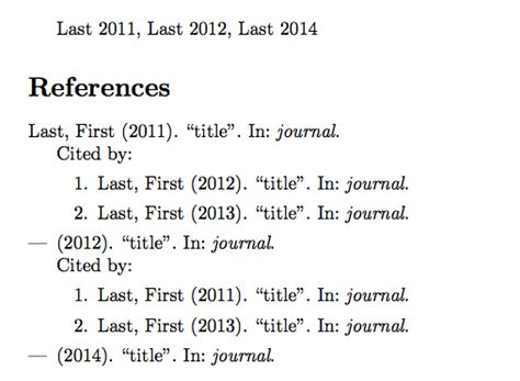 Citing Sources In Essay by Bibtex How To List Citing Papers Each Of My Paper Tex Stack Exchange