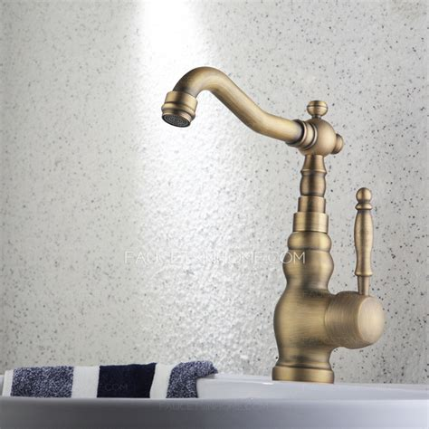 antique bronze bathroom faucet antique bronze rotatable deck mounted bathroom sink faucet