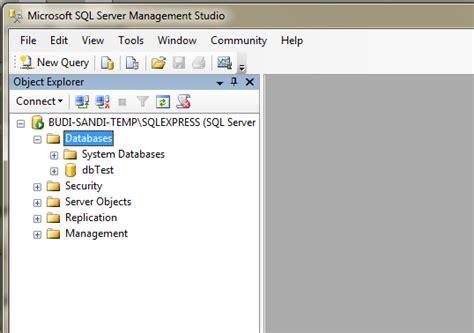 membuat database di sql server membuat database di microsoft sql server