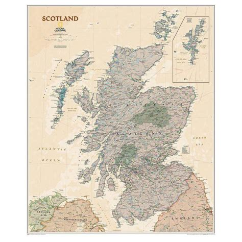 scotland mapping the nation national geographic map scotland