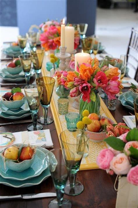 spring table settings top 14 spring centerpieces happy party theme for new