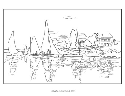 early coloring pages monet the early years coloring book