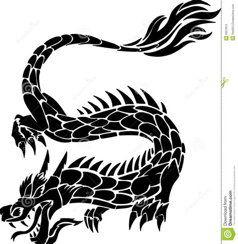 tatouage de dragon tribal illustration de vecteur