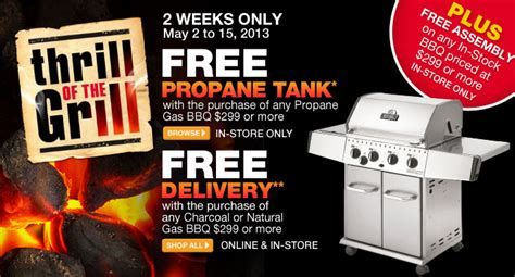 home depot  propane tank delivery  assembly