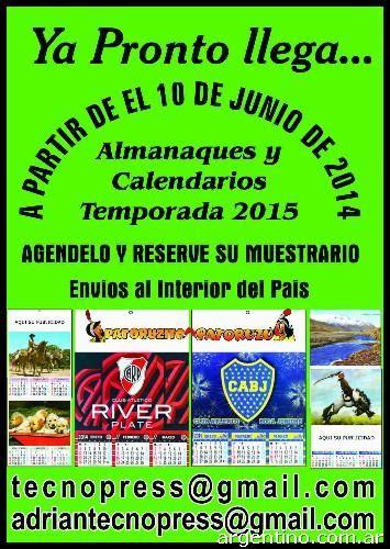 almanaques 2015 calendarios 2015 impresion de almanaques fotos de tecnopress imprenta iniciamos la temporada