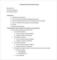 speech templates 8 speech outline templates free pdf word documents