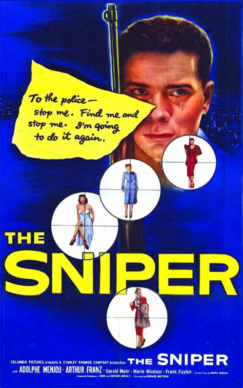 themes the sniper story film noir of the week the sniper 1952