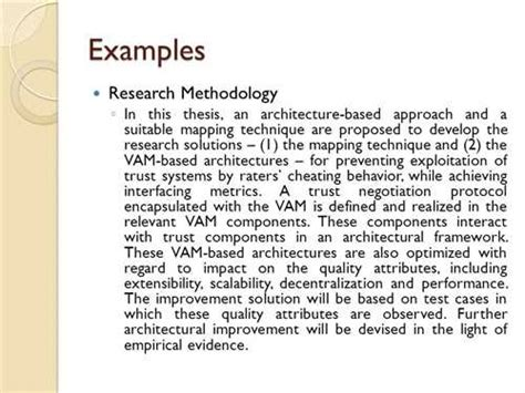writing methodology chapter dissertation exle thesis methodology