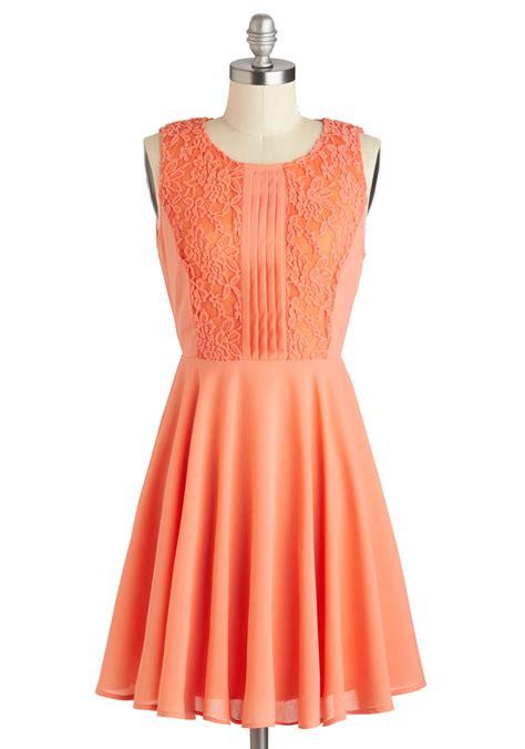 Apricot Orange Dress Korean Style Dress apricot dahlia dress mod retro vintage dresses
