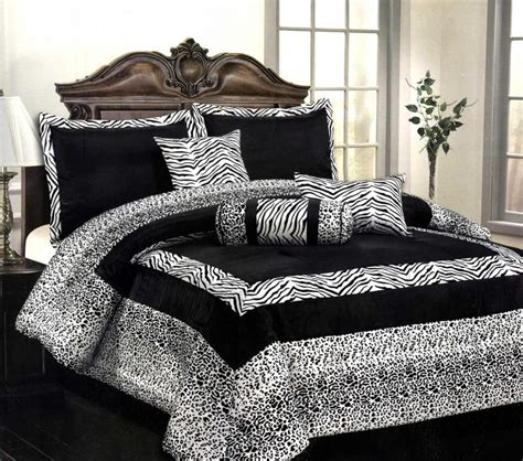 11 pcs flocking zebra leopard comforter set window