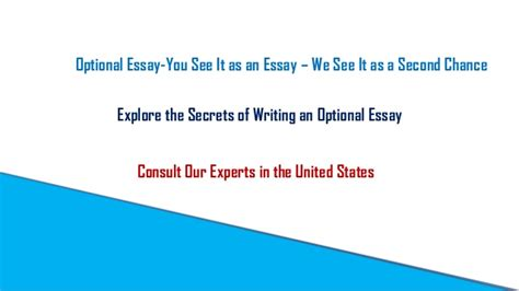 Mba Optional Essay Tips by Optional Essay A Catalyst To Boost Your Mba Application