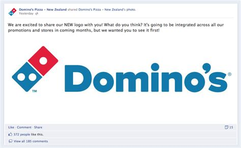 domino pizza facebook is this the new domino s pizza logo down with design