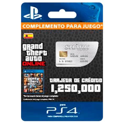 gta red shark cash card (ps4). prepagos: game.es