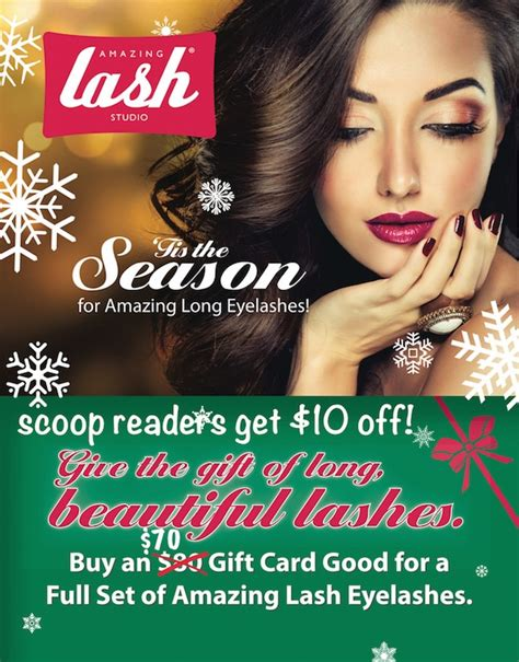 Amazing Lash Gift Card - save on the gift of lash extensions for a perfect holiday present
