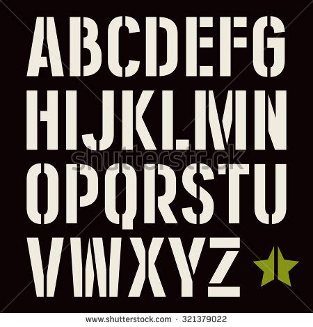 army pattern font stencil stock images royalty free images vectors