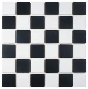 somertile somertile matte black white checkerboard