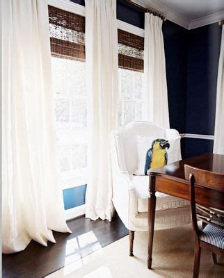 drapes over woven roman shades for the home pinterest white curtains bamboo blinds and bamboo on pinterest