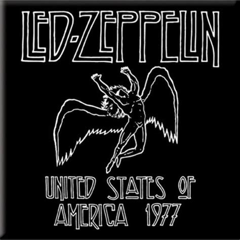 Home Office Decor by Led Zeppelin 1977 Usa Tour Magnet