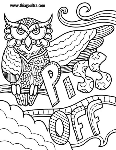 coloring books for adults with swear words free coloring page swearing owls coloring