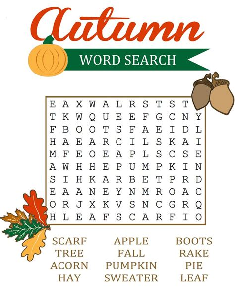 8 Courses For The Thanksgiving by Best 25 Fall Word Search Ideas On