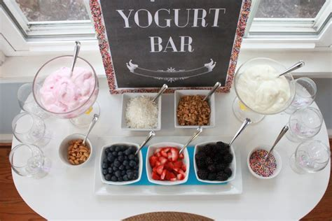 yogurt bar toppings mirabelle creations party rainbow sprinkles 10th