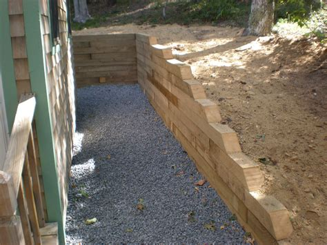 Landscape Timbers Retaining Wall 29 Best Images About Designing Timber Retaining Wall