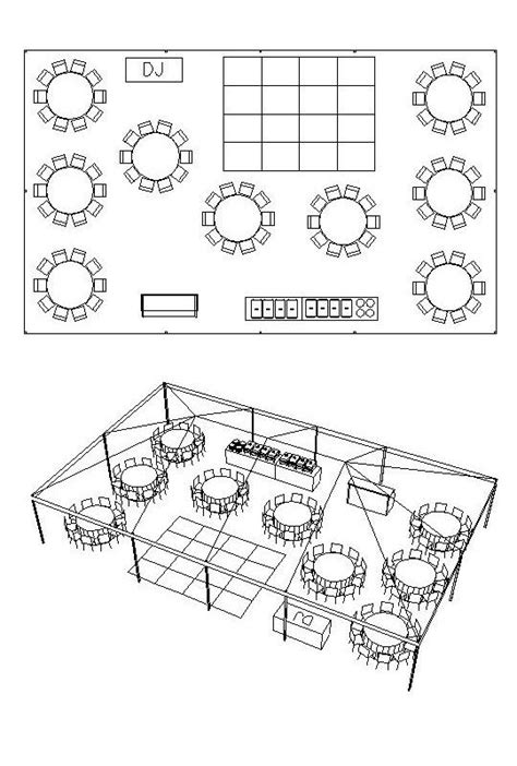 Backyard Wedding Floor Plan 30 X 50 Tent For 90 With Bar Buffet Dj