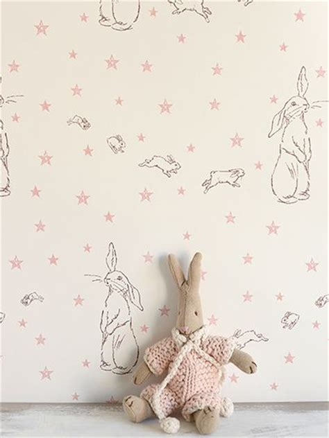 Baby Pink Nursery Wallpaper