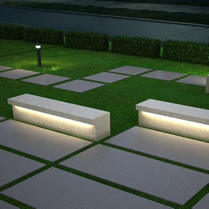 led bench streetscapes